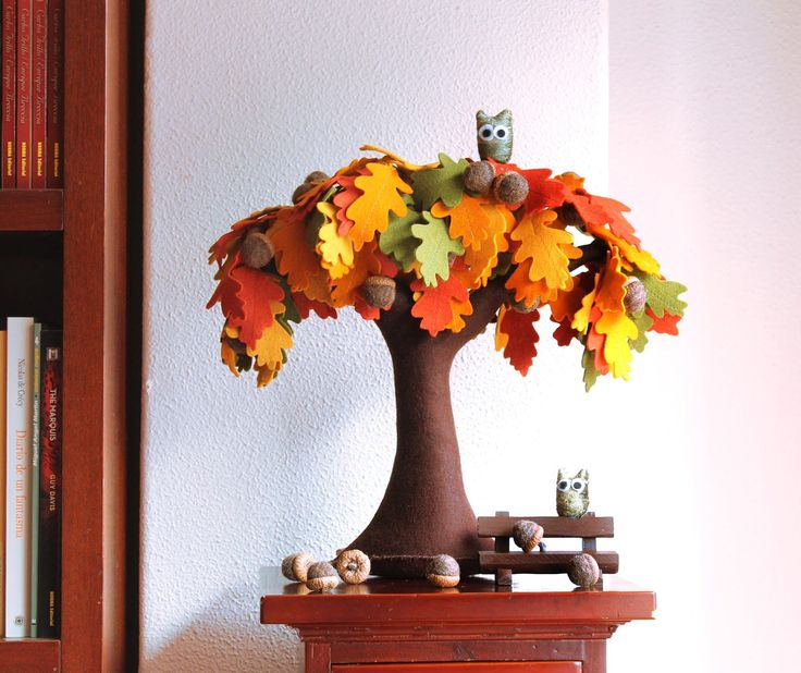 DIY Creative Handmade Felt Trees from Template | iCreativeIdeas.com Like Us on Facebook ==> https://www.facebook.com/icreativeideas
