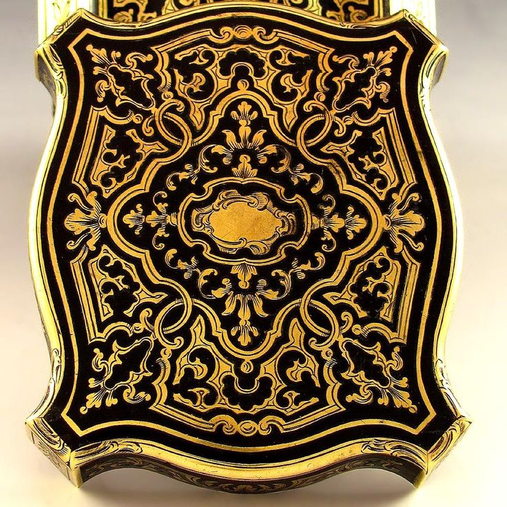 Antique French Signed Giroux Paris Pocket Watch Holder Box with Boulle Style Inlay