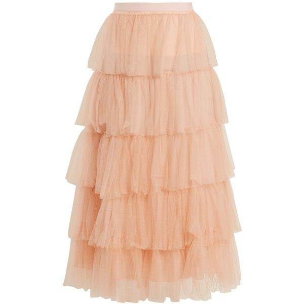 Emilio De La Morena Tierelle tiered tulle skirt (4,290 SAR) ❤ liked on Polyvore featuring skirts, light pink, tulle skirts, tiered tulle skirt, going out skirts, emilio de la morena and light pink skirt