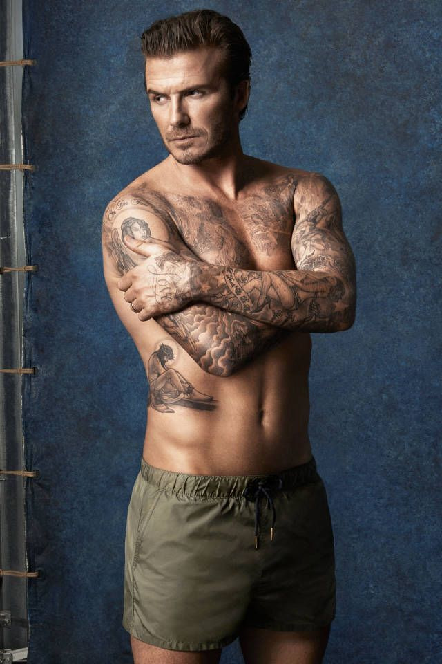 David Beckham Lends Talents to Swimwear A work of art indeed!