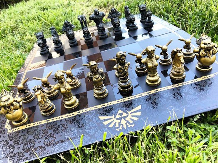 Legend Of Zelda Chess Set #shutupandtakemyyen #zelda #legendofzelda #thelegendofzelda #botw #breathofthewild #chess #merch #merchandise #zeldamerch #zeldamerchandise #chessset #zeldabreathofthewild #zeldabreathofthewild #princesszelda #ocarinaoftime