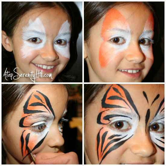 Butterfly face paint alternatives for boys « Atop Serenity Hill