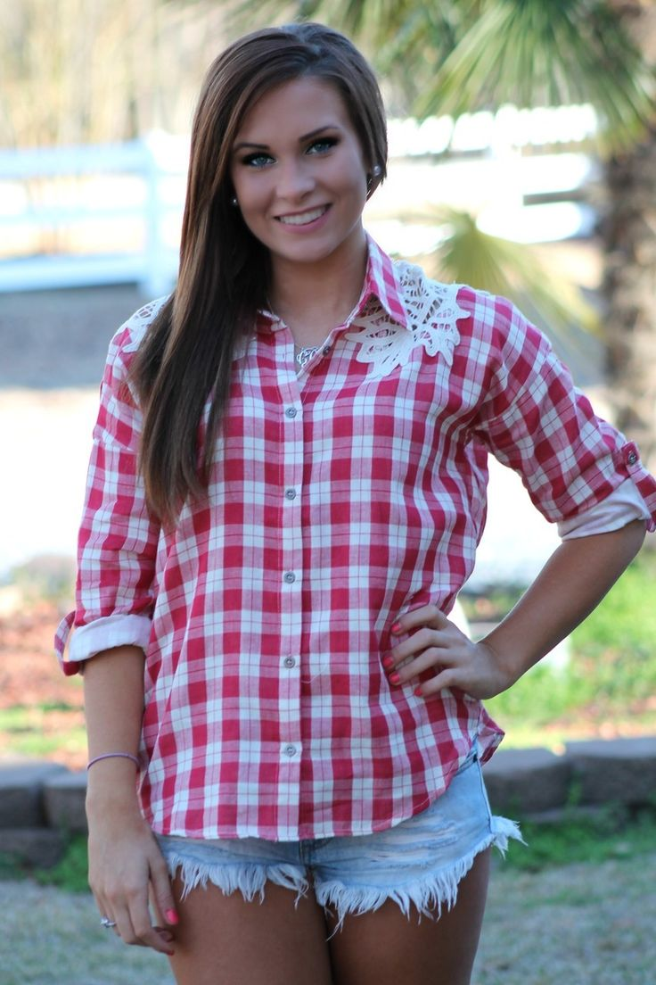 Whiskey Girl Top: Red - Off the Racks Boutique