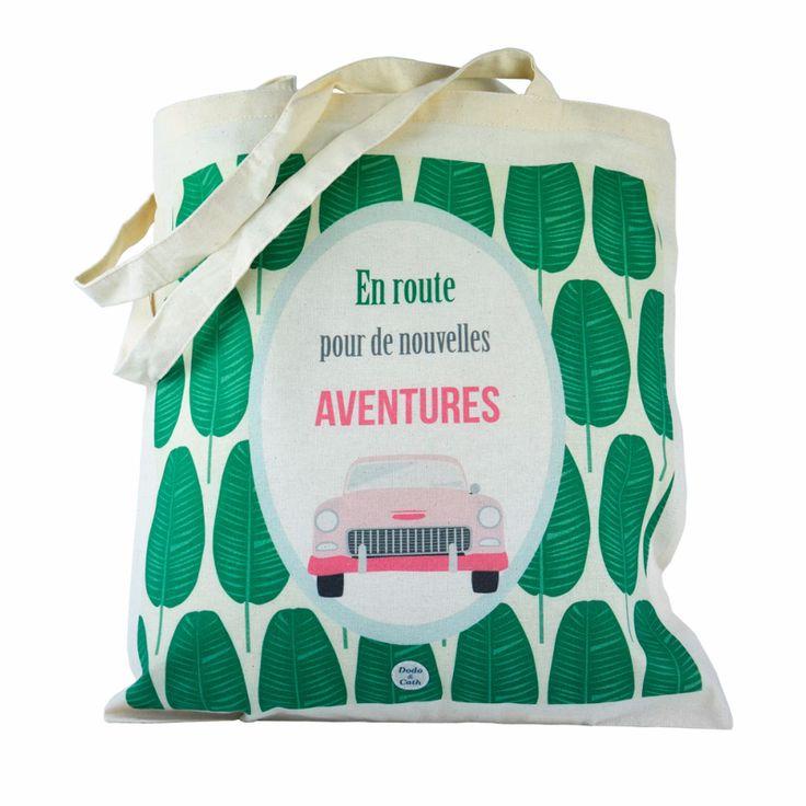 Tote bag: La vie est plus belle en vert