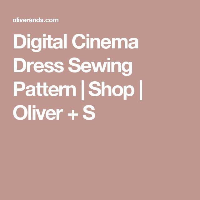Digital Cinema Dress Sewing Pattern   Shop   Oliver + S