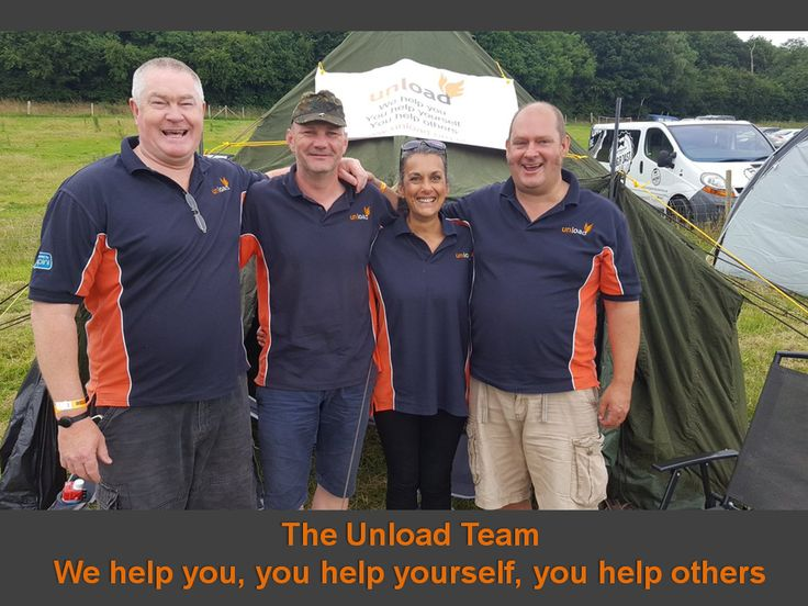 The Unload Team from Left to Right: Rob Knowles, Darren 'Fred' Weaver, Chrissy Sawyer and our Founder, Mike Payne at Wellowfest 2016 - amazing event!!