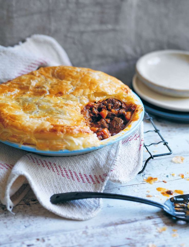 Beef and vegetable pie recipe from Something for Everyone by Louise Fulton Keats | Cooked
