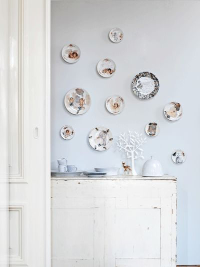 Plates on the wall..