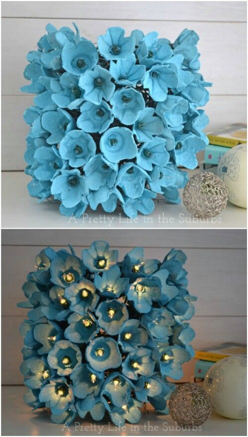 35 Impossibly Creative Projects You Can Make with Recycled Egg Cartons -...