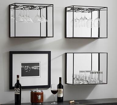 Mirrored Entertaining Shelves, Bronze #potterybarn