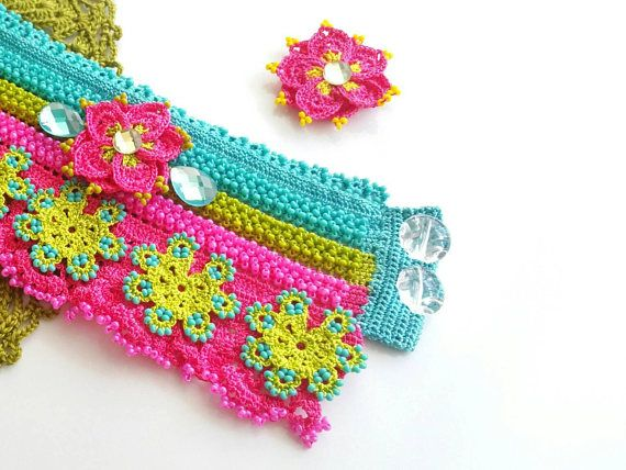 Check out this item in my Etsy shop https://www.etsy.com/listing/544980758/bracelet-bohemian-style-handmade-crochet