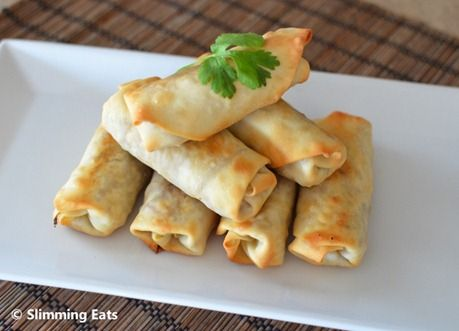 Chicken and Vegetable Baked Spring Rolls | Slimming Eats - Slimming World Recipes