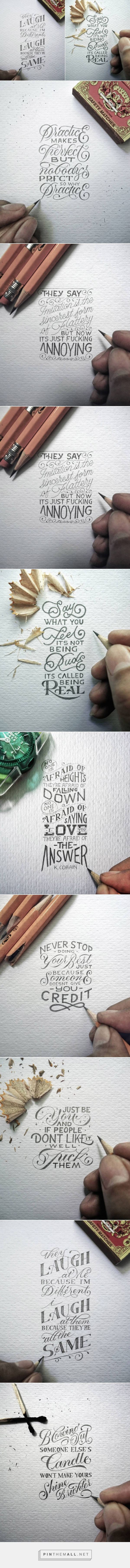 Great Hand Lettered Quotes by Dexa Muamar – Fubiz Media - created via https://pinthemall.net