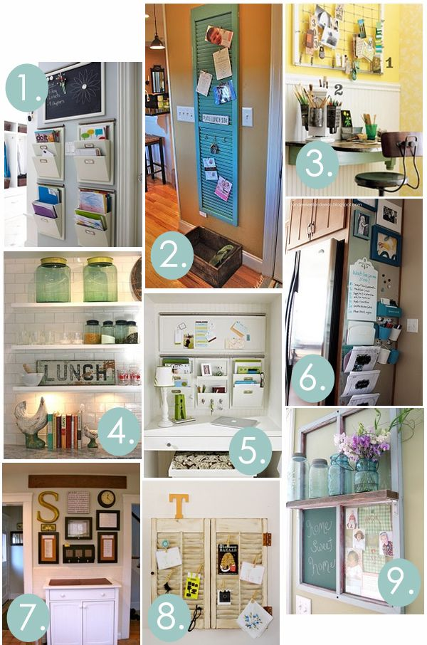 Kitchen command/message center inspirations - paper attacks us in this house, gotta find a way to tackle it before it tackles us!