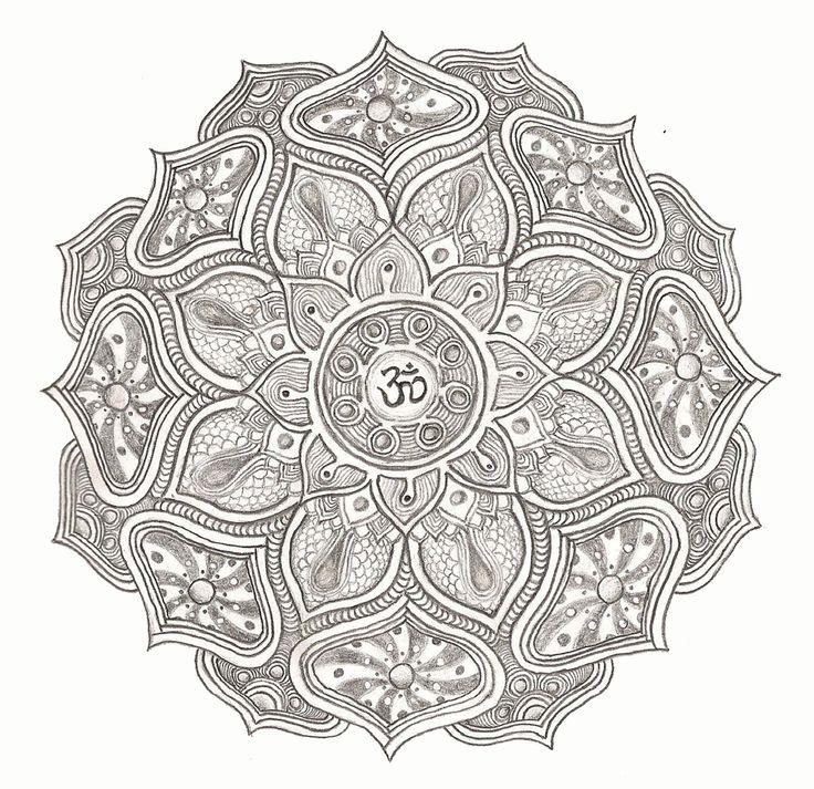 Om Mandala Tattoos Pinterest Coloring