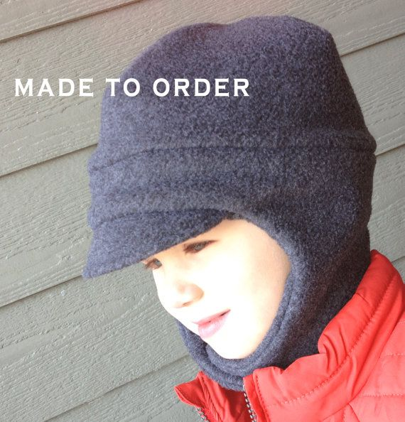 Unisex Fleece Hat for Child with Chin Strap - Fleece Winter Newsboy Hat for Kids - Camoflouge Hats - Child Winter Hat on Etsy, $18.50