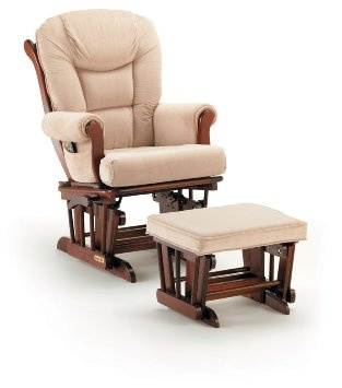 Amazon.com: Shermag Glider Rocker w/ Ottoman in Cherry: Baby  Gummy ...