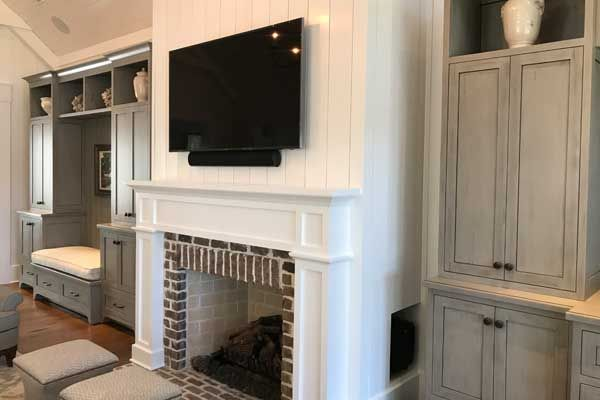 "Audio Video Room - Check out this 65"" Sony TV and KEF Soundbar! Installed in Palmetto Bluff."