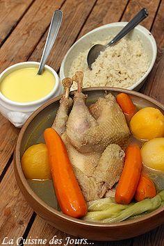Poule au Pot et Riz Sauce Crémeuse - C'est le moment de cuisiner, simple, léger, mais bon ! Photo : Eric - La Cuisine des Jours... © 2015