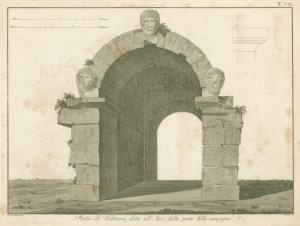 Porta di Volterra, detta all' arco, dalla parte della campagna (1810)