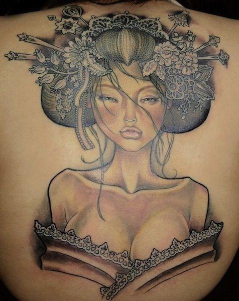 geisha tattoo by David Corden, Edinburgh, UK | japanese tattoos