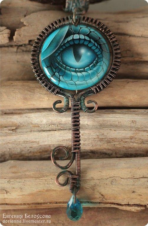"""Кулон-ключ с росписью """"Обережник"""" (глаз дракона) - кулоны подвески,кулон ручная роспись"""