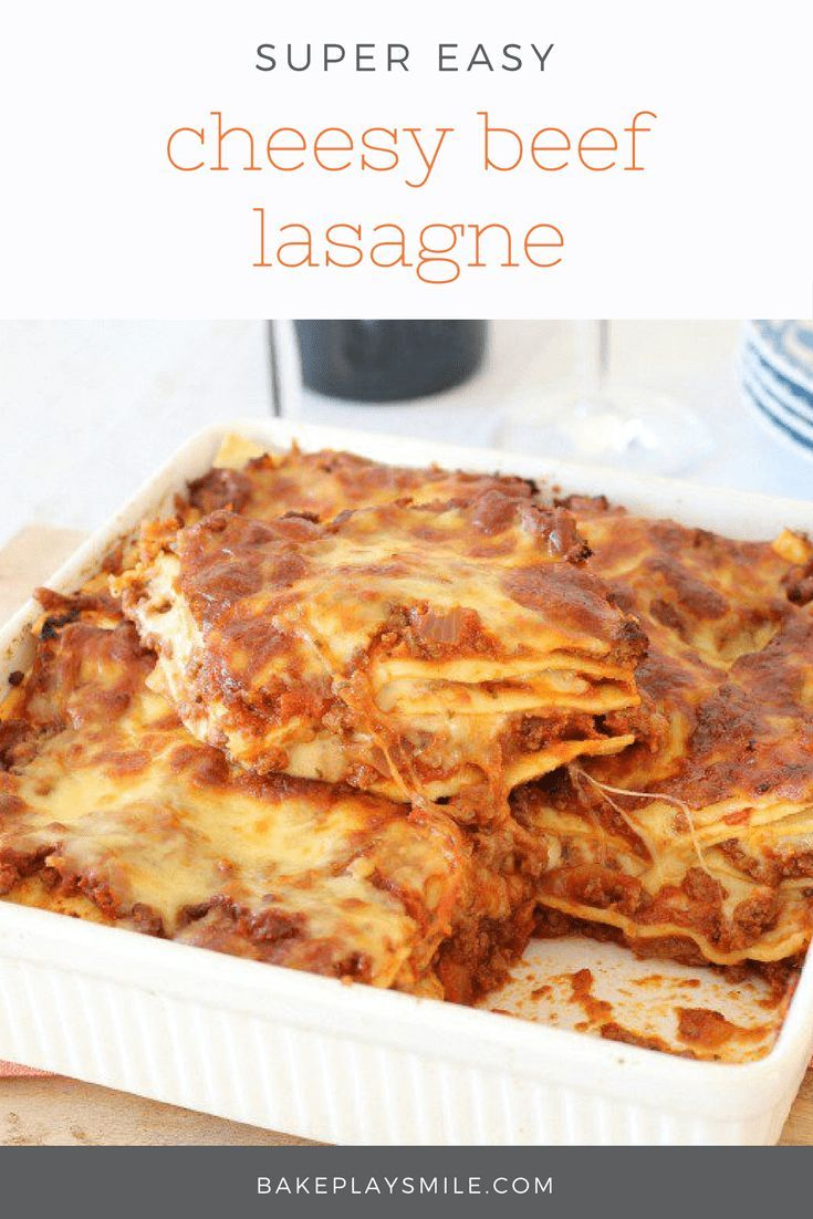 Whip up this Easy Beef Lasagne in no time! Get that extra cheesy taste without having to make a bechamel sauce. A quick & no-fuss dinner!  #lasagne #lasagna #easy #cheese #beef #family #dinner #thermomix #conventional #best