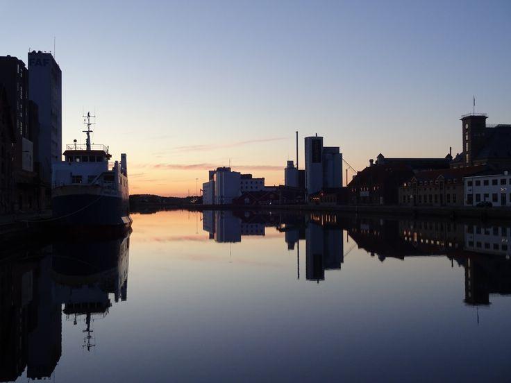 Solnedgang på Odense havn 21/6-16