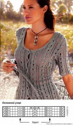 knitting pattern bluse ...♥ Deniz ♥