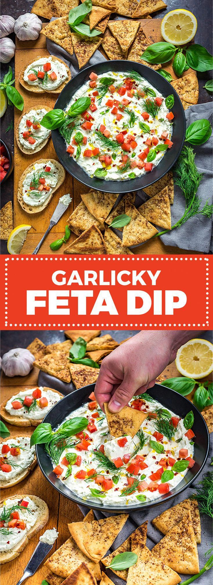 This simple, creamy dip is tangy, garlicky, and always a crowd-pleaser. #appetiz…