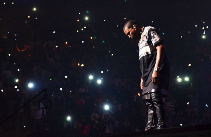 AWESOME photo of Kanye West shot by Tommy Ton