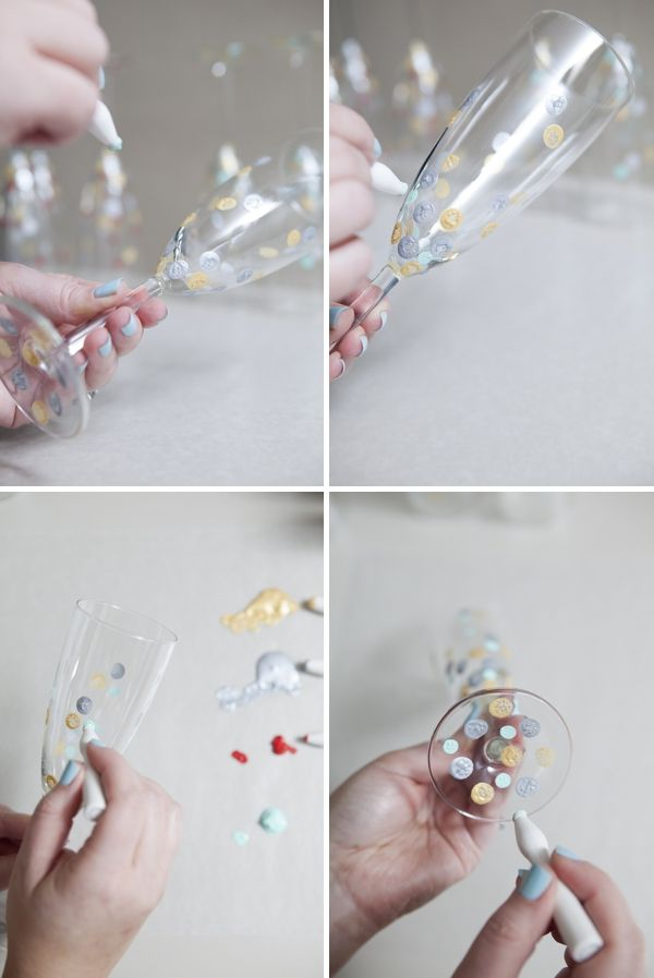 DIY project // how to make polka dot glassware! #polkadot #confetti #holidays #diy #wedding #12monthsofmartha