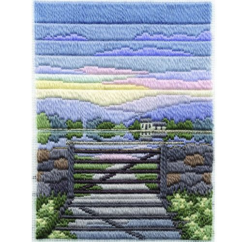 Spring Evening, longstitch embroidery kit, by Derwentwater, UK