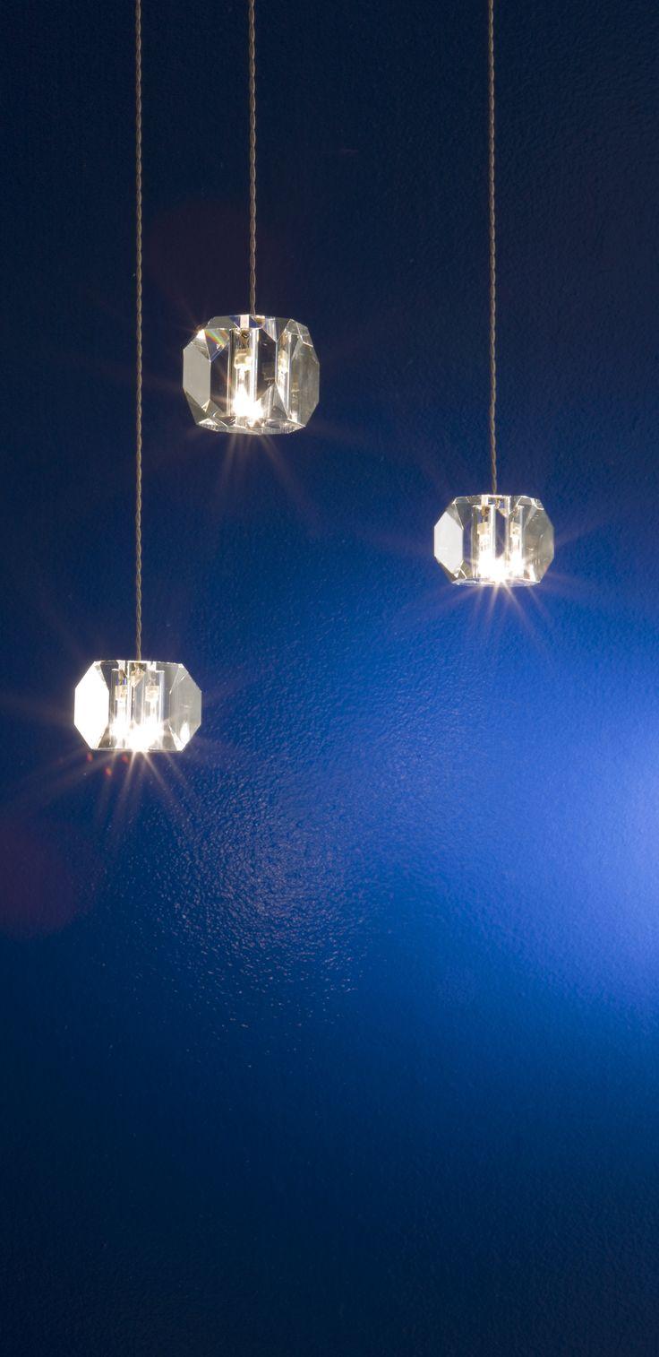 Gemma - crystal lighting fixture. Design Pepe Tanzi. Made in Italy