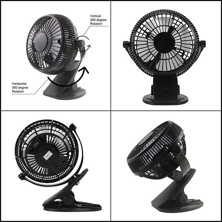 Clip On Mini Electric Cooling Fan Portable Oscillating Small Table Desk 4 Inch #Dreamiracle