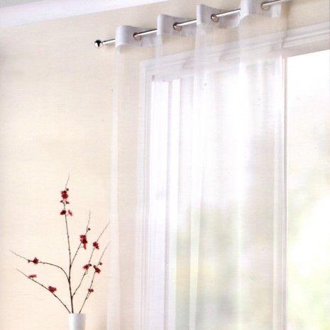 Voilage à oeillets - Couleurs Unies - Rideaux à fenêtres - Decor