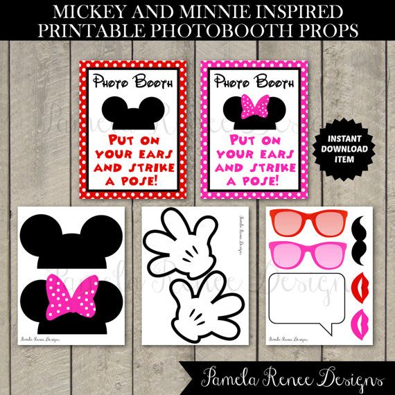 image regarding Minnie Mouse Photo Booth Props Printable known as Do-it-yourself Mickey Mouse Picture Booth Body -