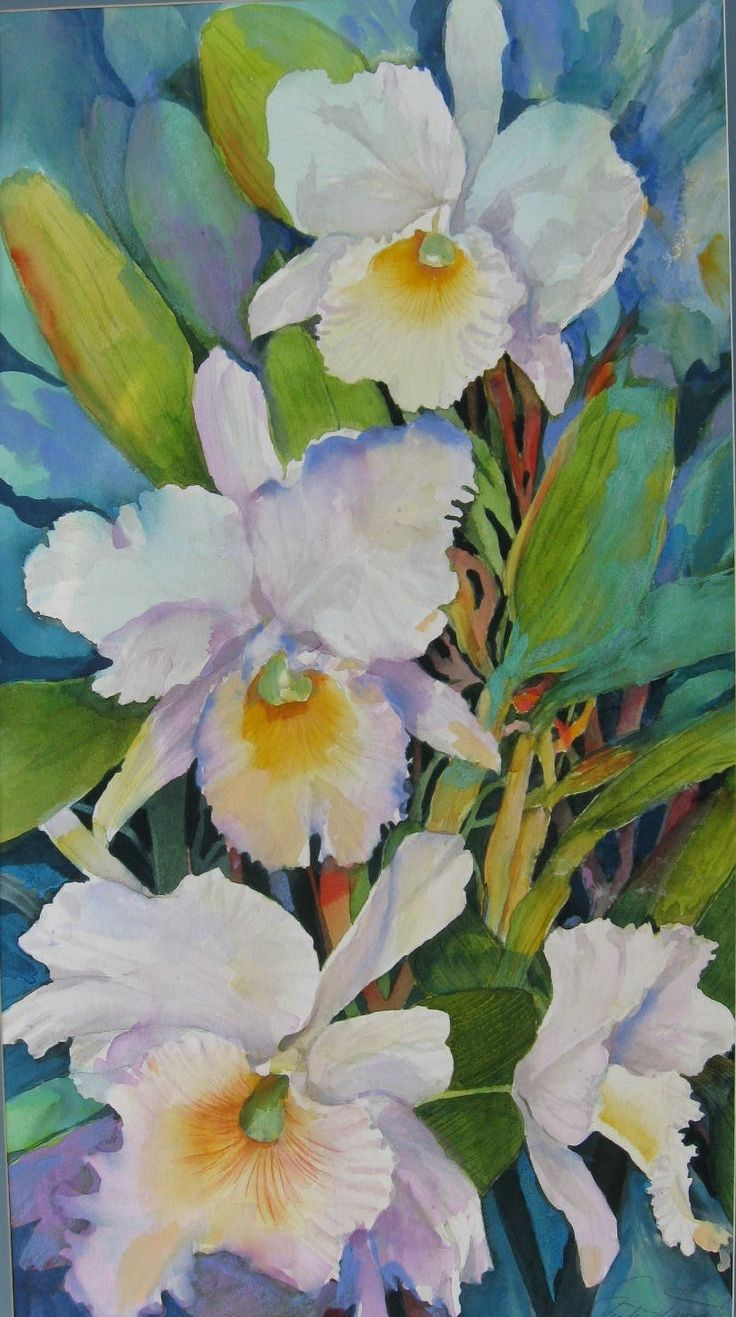 CATTLEYA ORCHID OF HAWAII 38 x24 1/2 matted. $ 285.00. SOLD