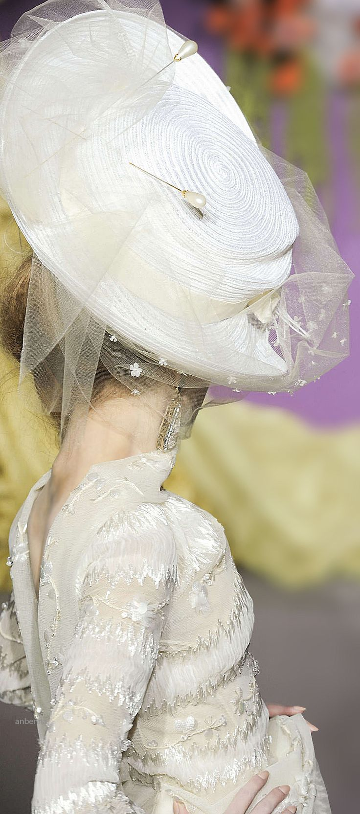 Christian Dior...love the hat, love the pin!