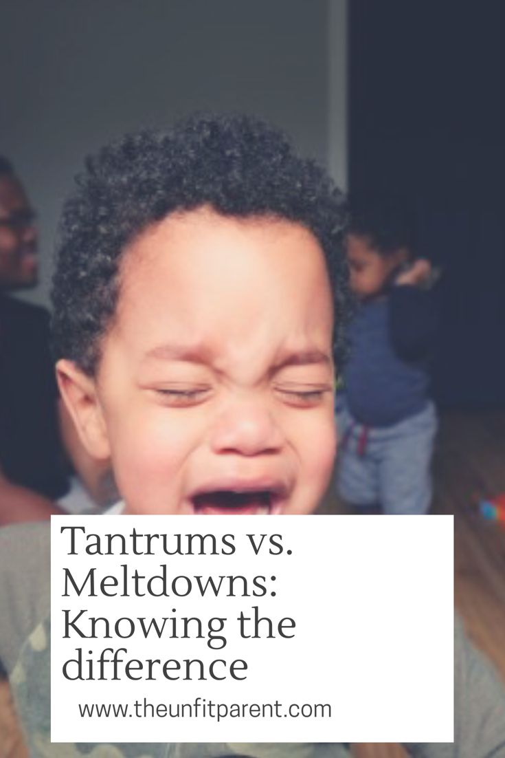 Toddlers are notorious for breaking out into tantrums and meltdowns. Believe it or not there is a difference. Here's how to spot those differences.