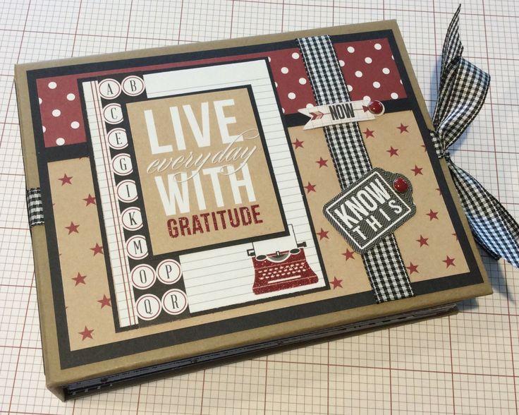Gratitude Scrapbook Album, PREMIUM Mini Album, Graduation Album, Graduation Gift, Photo Album, Journal by PaisleyPlaceDesigns on Etsy