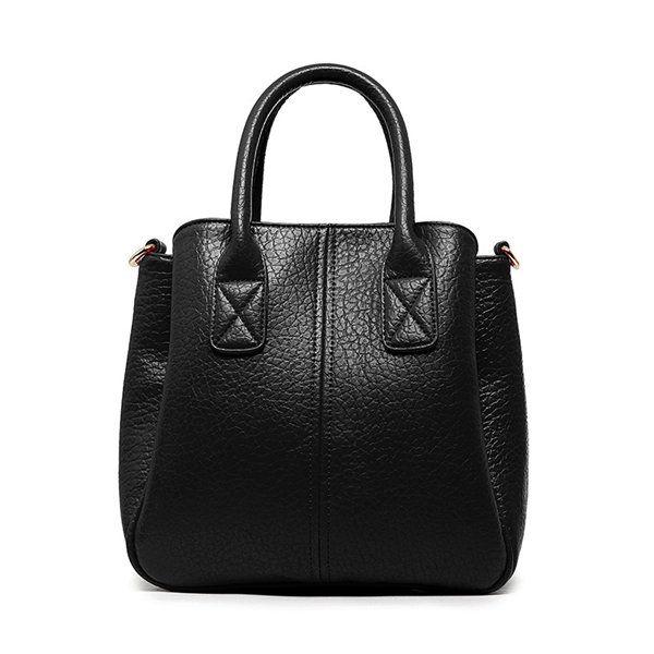 Genuine Leather Stylish Handbag Pure Color Shoulder Bag Crossbody Bag For Women