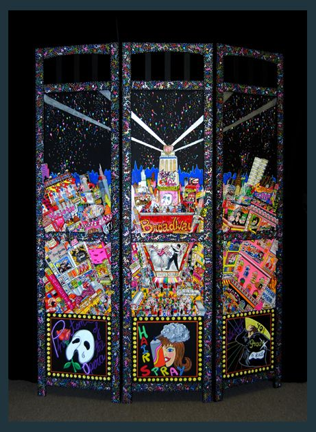 #Broadway Room Screen by Charles Fazzino - Limited Edition, #handpainted #NYC