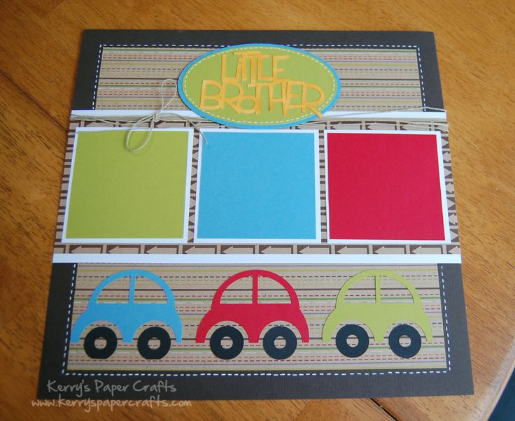 "Simple Scrapbook Layouts | Brothers"" Scrapbook Layout"