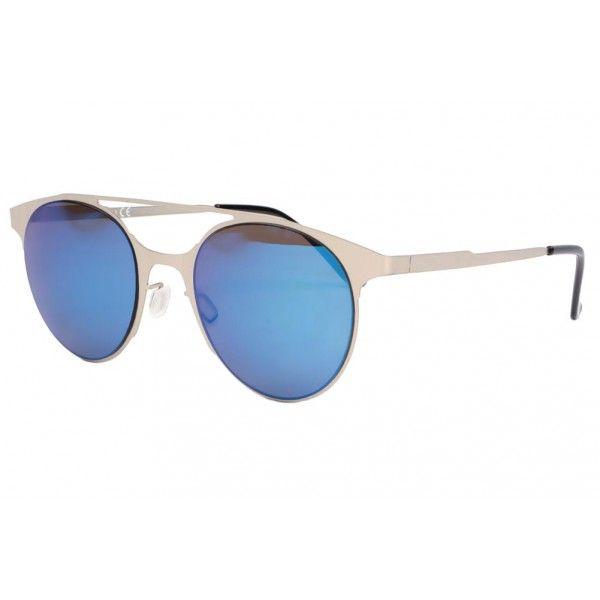Belles Lunettes de soleil miroir bleu marine