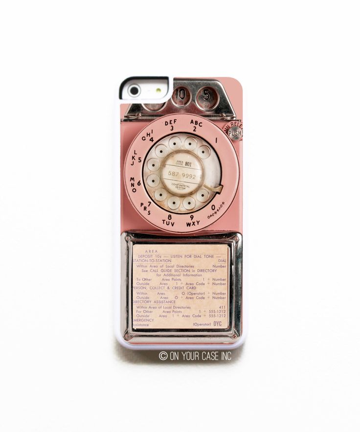 iPhone 5C Case. Vintage Pink Payphone. Case for iPhone 5C. Phone Case. Phone…