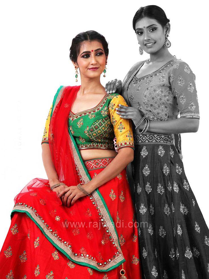 Heavy Embroidered Wedding Choli Suit #rajwadi #cholisuit #readycholi #lehengas #embroidered #FeelRoyal #bridal #colorful