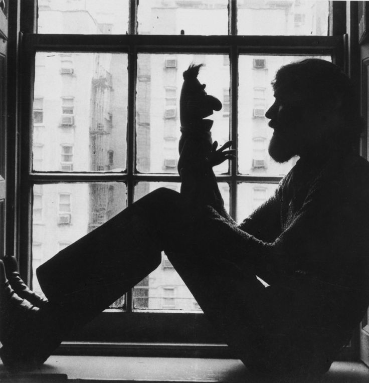 Jim Henson with Bert toy, c. 1971. Photo Ted Neuhoff