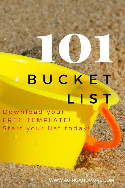 Aging and More - How's it going with your New Year's Resolutions? We're trying a new 101 in 1001 Days Goal List - Bucket list - free template