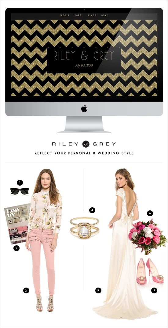 Stylish wedding websites to fit all your wedding needs and personal style. Design: Riley & Grey ---> http://www.weddingchicks.com/2014/05/22/riley-grey-wedding-website/